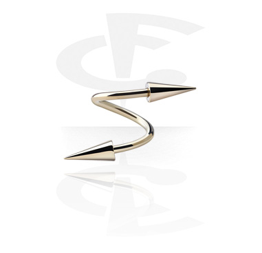 Spirales, Spirale avec Longs cônes, Acier zircon