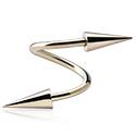 Spirals, Spiral with long cones, Zircon Steel