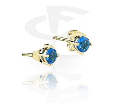 Earrings, Studs & Shields, Ear Studs, Zircon Steel