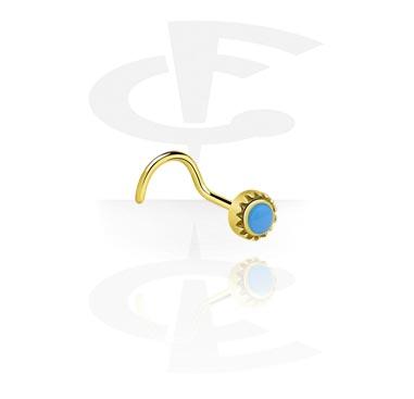 Nose Jewellery & Septums, Nose Stud, Zircon Steel