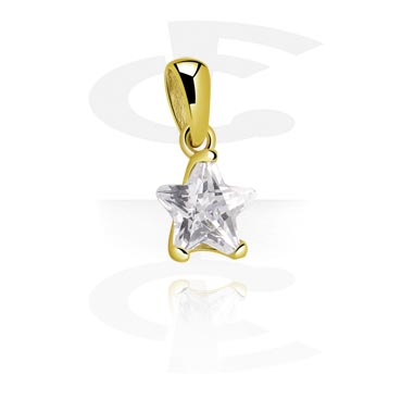 Zawieszki, Pendant z Crystal Star, Zircon Steel